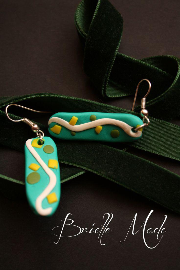 Fresh Green Earrings by briellemade.deviantart.com on @deviantART
