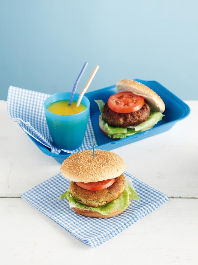 Burger με ρεβίθια