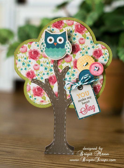@Ashley Walters Walters Peckenschneider  @Kendra Henseler Henseler Girouard I <3 owls! Owl tree card