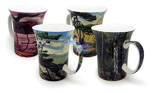 Ensemble de 4 tasses Groupe des Sept Prix: 39.99 $ || Set of 4 Group of Seven Mugs Price: $39.99