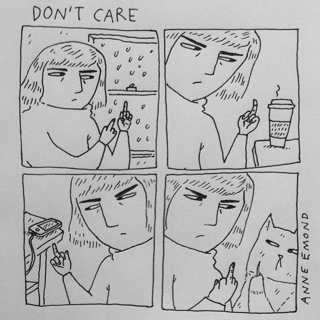 Lunch break comic» don't care
