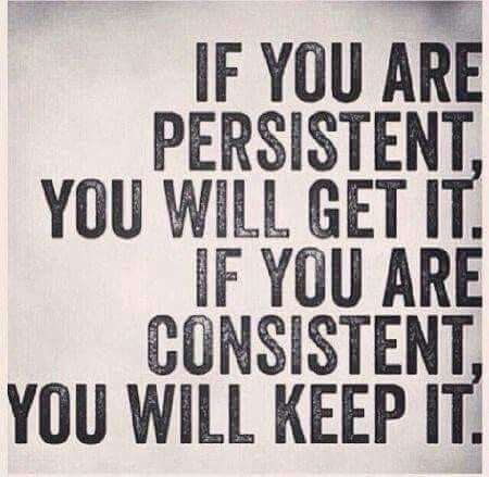 If you are consistent you will keep it  | Posted By: NewHowToLoseBellyFat.com
