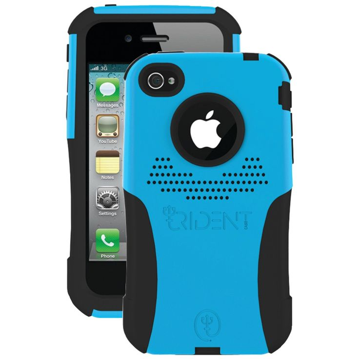 Trident Case Aegis Case for Apple iPhone 4 - AT&T/Verizon - Blue - 1 Pack - Retail Packaging - Blue. Meets Military Standard MIL-STD-810F: vibration and drop (Independently Tested). Inner-layer of shock-absorbing silicone with an outer-layer of hardened polycarbonate, providing two layers of protection. Self-applicable screen protector included. Power-ports and audio-jacks are covered with silicone plugs to keep out dirt and debris. Dust filters protect microphone and speaker bays....