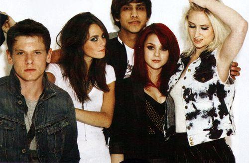Cook, Effy, Freddie, Emily, and Naomi (Skins - Gen 2) Jack O'Connell, Kaya Scodelario, Luke Pasqualino, Kathryn Prescott and Lily Loveless