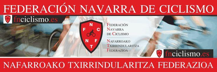 Cartel/pancarta de la Federación Navarra de Ciclismo diseñado por Bravantia