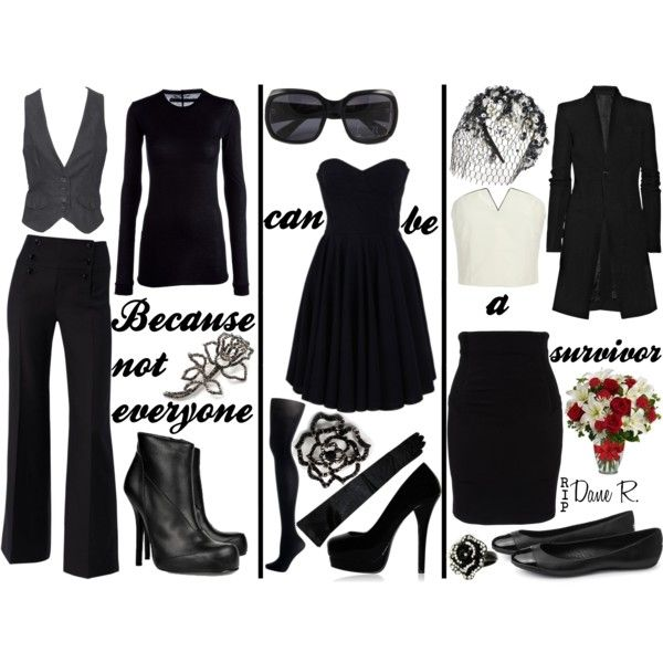 """Funeral Attire..."" by less-sane-than-luna on Polyvore"