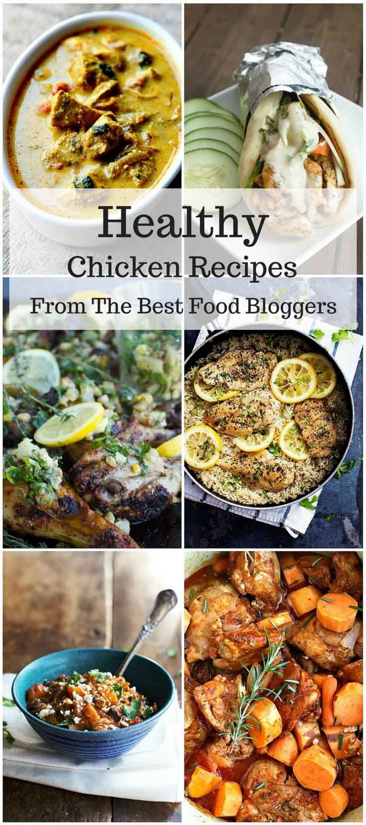 Healthy Chicken Recipes – A list of easy and tasty chicken recipes from some of the best food bloggers