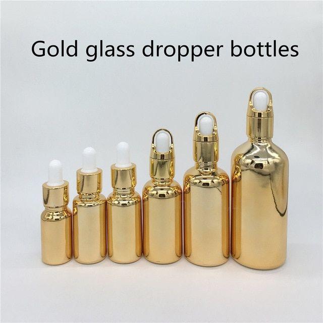 10ml 15ml 20ml 30ml 50ml 100ml Gold Glass Bottle With Dropper Essential Oil Bottle Perfume Bottles Review Bottle Essential Oil Bottles Perfume Bottles