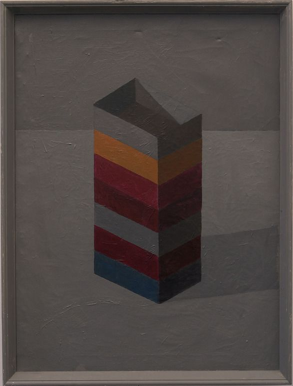 """Stuart McHarrie; Oil, 2012, Painting """"7 paint boxes"""""""