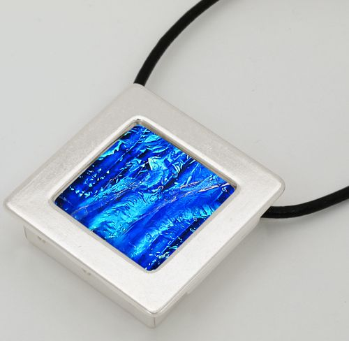 89 best glass jewelry findings images on pinterest glass jewelry silver square gallery pendant aloadofball Choice Image