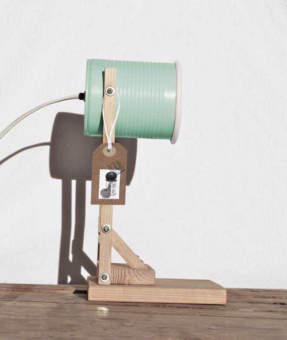 Flexo de mesa / lampara mesilla de noche en color mint  / verde…
