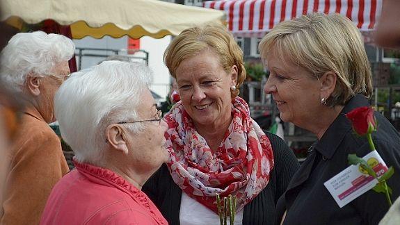 Hannelore Kraft unterstützt Michaela Engelmeier-Heite im Wahlkampf