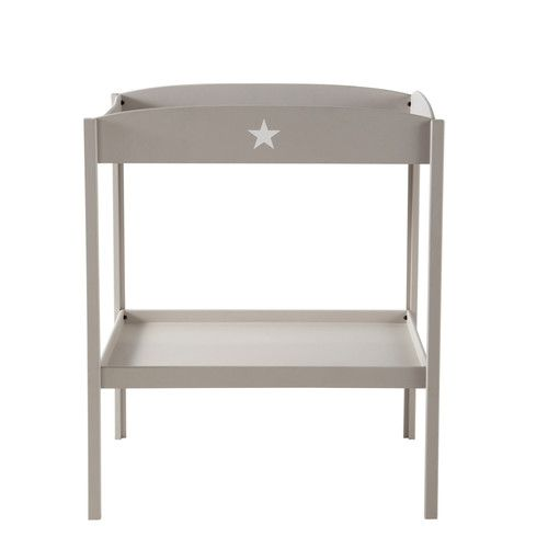 Wooden changing table in taupe W 80cm