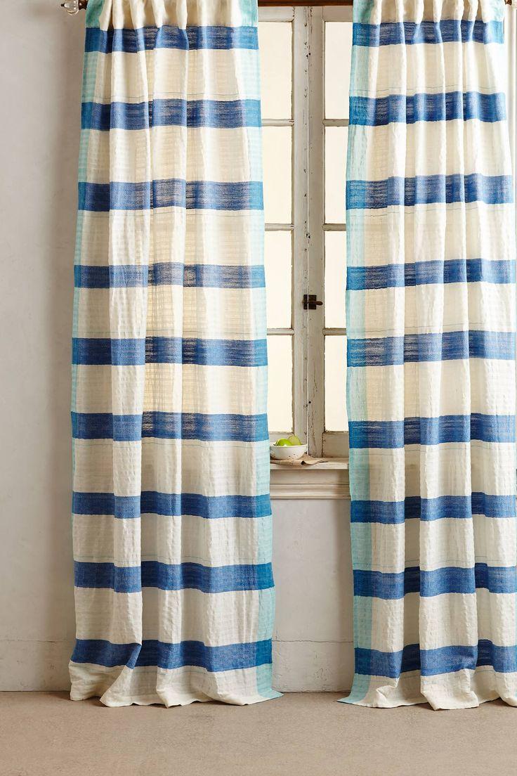 Beach window treatments - Sanaga Stripe Curtain L Beach Home Windows L Www Dreambuildersobx Com