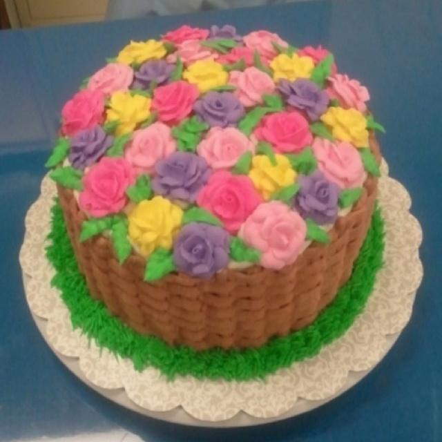 Easter Cake Decorated Round Ish Cakes 2 Pinterest