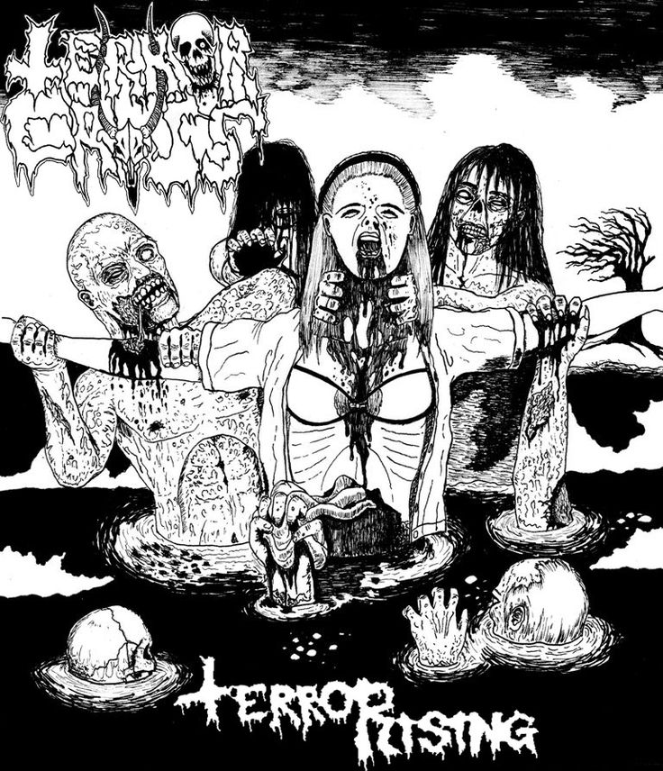 Illustration for to a digital release by the Finnish metal punk band Terror Cross. TerroRising.