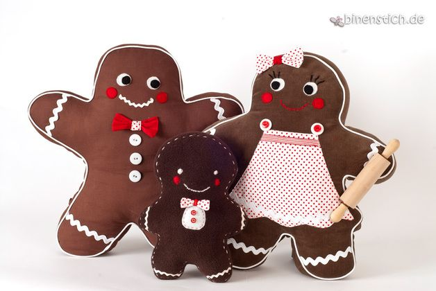 Nähen für Weihnachten: Lebkuchenmann + Familie, Nähanleitung | binenstich.de