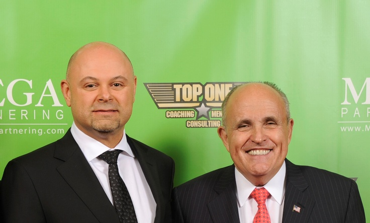 Shawn Shewchuk with former New York Mayor Rudy Giuliani