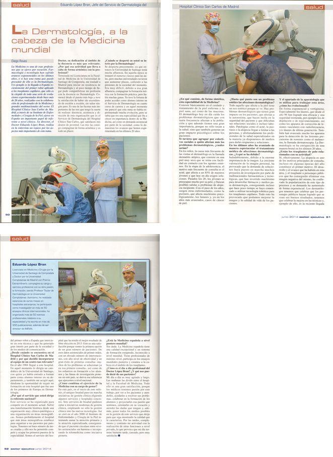 Nuevas apariciones en prensa de Imema, el doctor Eduardo López Bran y ARTAS. http://www.imema.es/