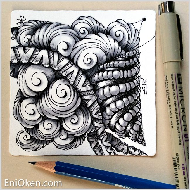 Learn to make amazing Zentangle® • enioken.com