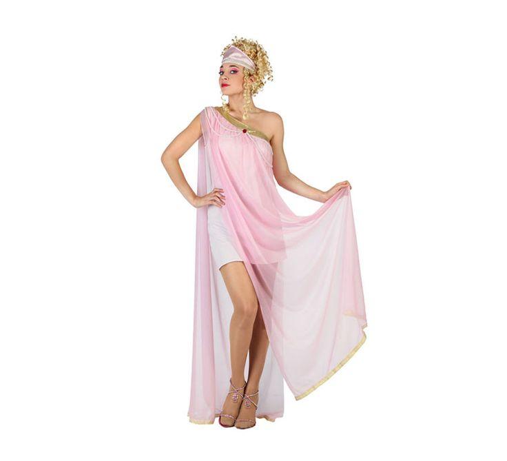Disfraz de Diosa Griega con tul rosa para mujer talla M-L | Disfrazzes | Tienda de disfraces online