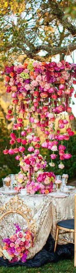 How's this for a flower centerpiece to your wedding table?! Roses galore!. Please also visit www.JustForYouPropheticArt.com for colorful inspirational Prophetic Art and stories. Thank you so much! Blessings!
