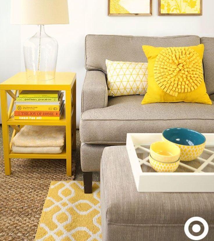 Gele woonkamer!