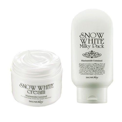 secret key snow white cream 50g + snow white milky pack 200g set