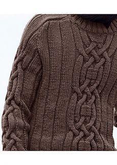 Мужские пуловеры спицами. Подборка моделей