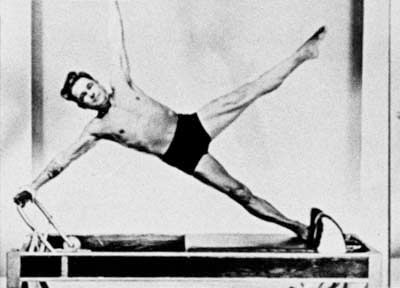 The man on the machine - Joseph Pilates on the Reformer!