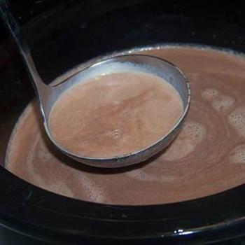 Christmas Eve Creamy Crockpot Hot Chocolate