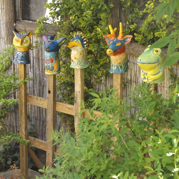 Artificial ceramics made by host of the garden visits