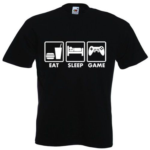 "t-shirt geek  ""Eat Sleep Game"" @IndependenceGeek"