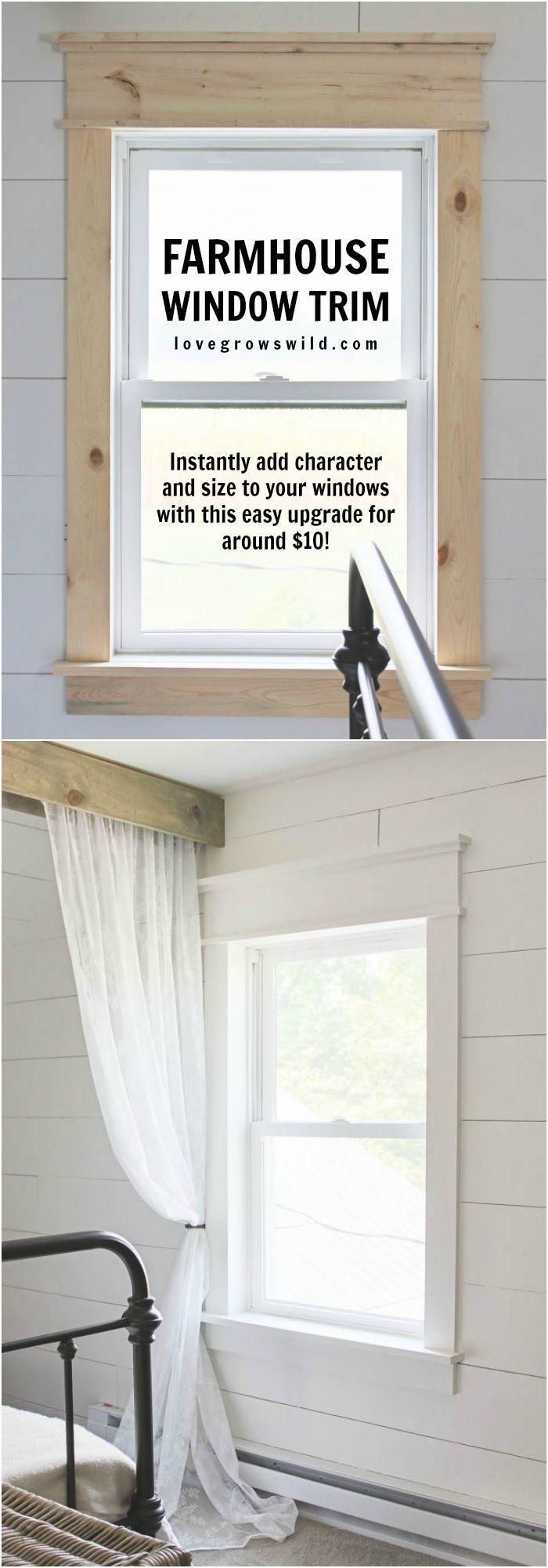 Exterior window cornice ideas - Farmhouse Window Trim