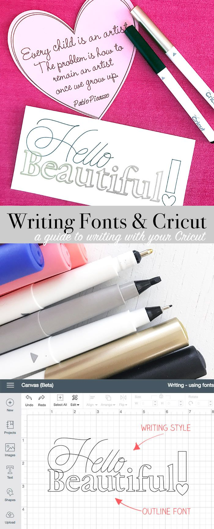 Writing fonts with your Cricut