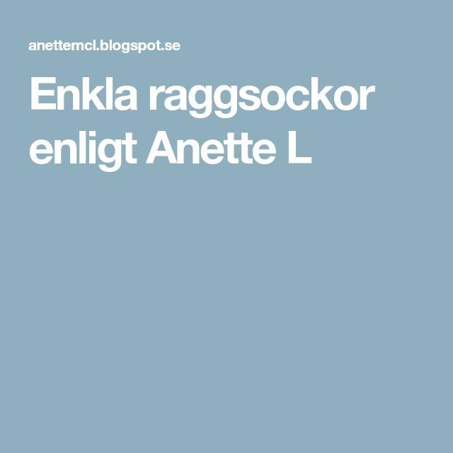 Enkla raggsockor enligt Anette L