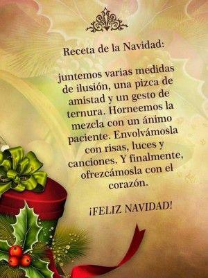 Receta de la Navidad. Encuentra más mensajes de Navidad en... http://www.1001consejos.com/10-mejores-postales-de-navidad/