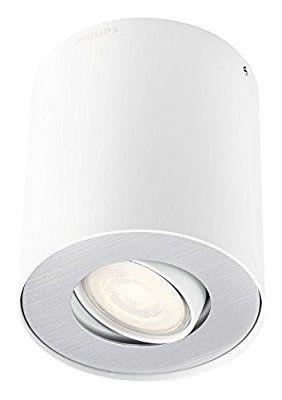 Philips 5633031p0, myLiving LED Spot - Pillar 1luces. (230lm, color blanco, Metal, 3.5watts, integrado, 10.3x 10.3x 12cm)