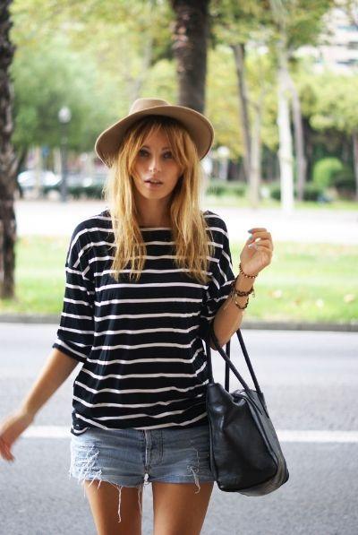 Stripes Shorts Fedora