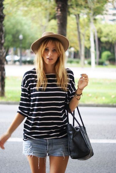 Stripes Shorts Fedora