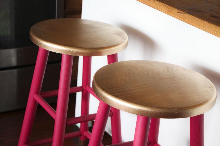 metallic painted bar stool - Google Search