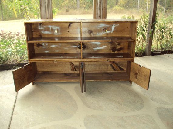 TV Cabinet 58 Inch wide 36 Tall TV Cabinet Old by USAcreations, $550.00