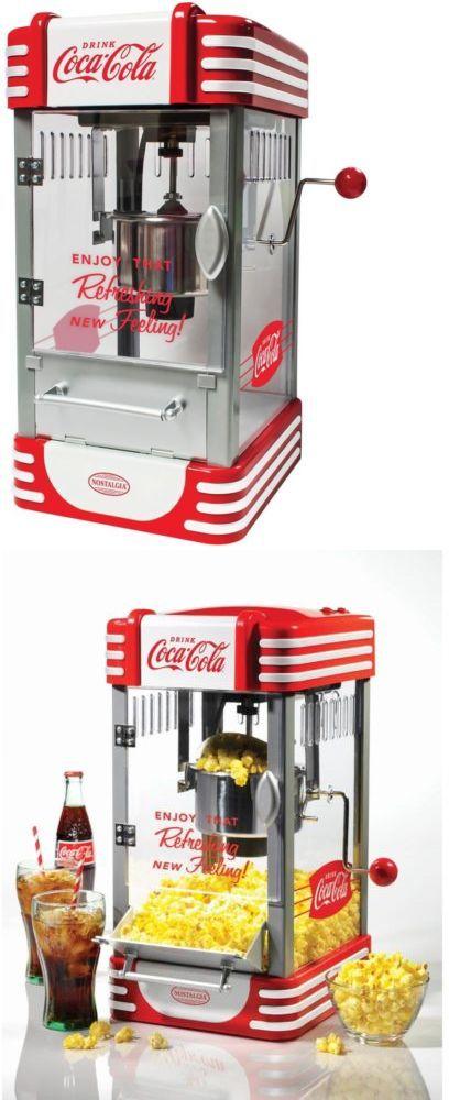 Popcorn Poppers 66752: Kettle Popcorn Maker Coca-Cola Soda Movie Theater Corn Popper Machine Vintage -> BUY IT NOW ONLY: $81.68 on eBay!