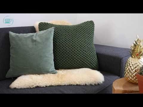 Kissen stricken im Waffelpatent - gratis Anleitung | Stricken und Häkeln