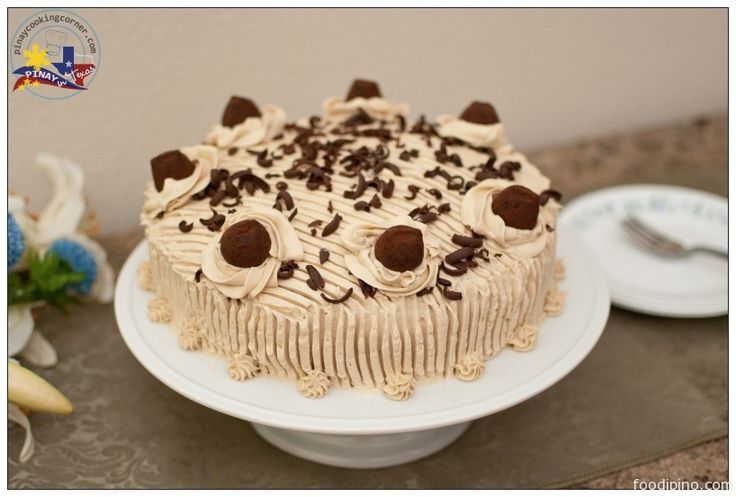 Adapted fromGoldilocks Bakebook, thisMocha Cakewill definitely satisfy your sweet tooth. The mocha flavor for both the cake and the frosting is just awesome! I topped the cake with Chocolate Truffles for a more fabulous finish and for an added bittersweet taste. I tell you it made the cake even