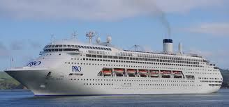 P&O Pacific Jewel 70,310 GT  Capacity of 2053 passengers