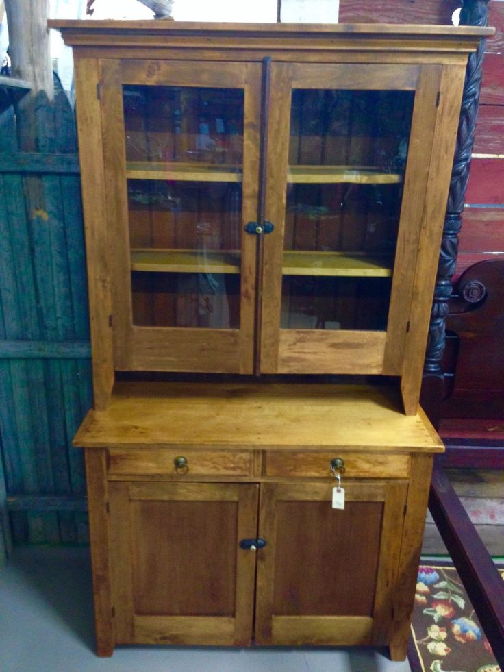 Beautiful Antique Maple Step Back Kitchen Cabinet Cupboard 44w78h20d top is 45h12d. | eBay!