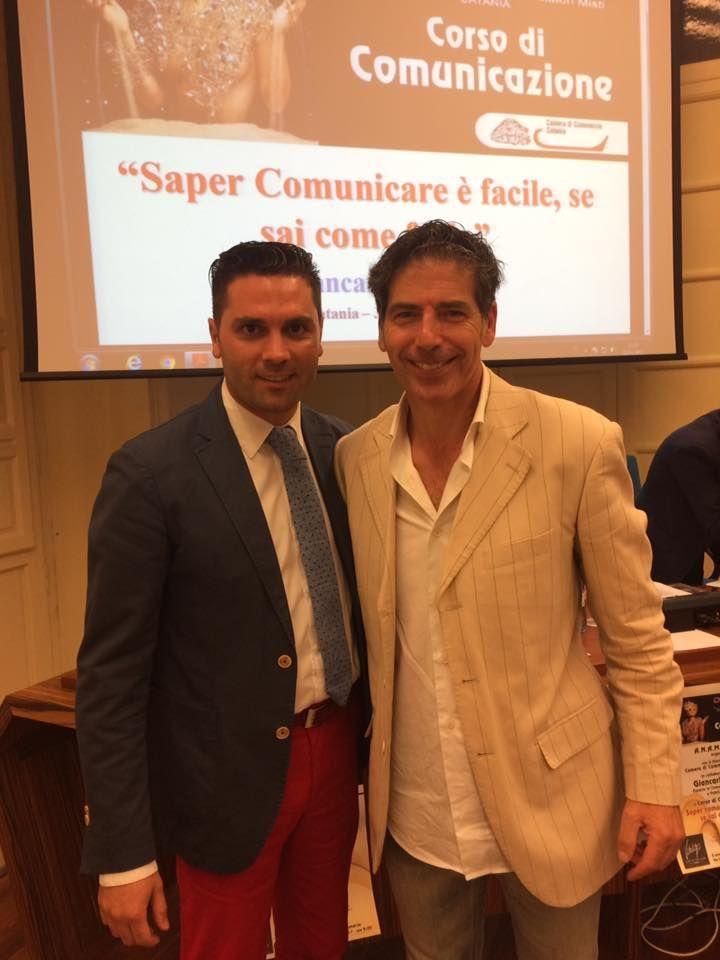 Giancarlo Fornei a Catania 3 luglio 2017 - con Giulio Molinaro dell'Accademia Anam Catania