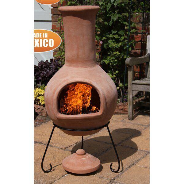 Skoog Clay Wood Burning Chiminea In 2020 Wood Burning Fire Pit Chiminea Clay Fire Pit