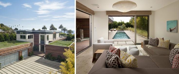 Beachfront home, #LEED Platinum, Montecito, Calif.: Green Houses, Beaches House, House Daily